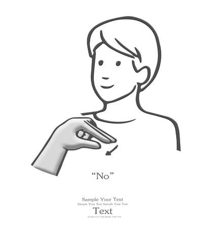 dedo me�ique: Sin el lenguaje de signos