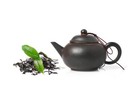 chinese tea pot: Black Purple Chinese Tea Pot isolated on white