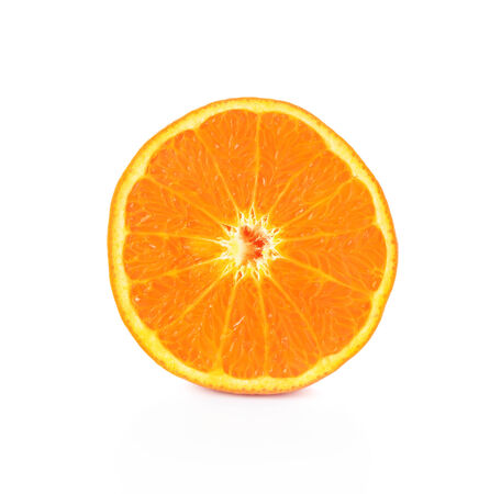 orange slice: Orange slice isolated on white Stock Photo