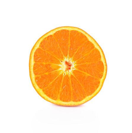 Orange slice isolated on white Фото со стока