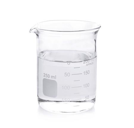 Beaker on white background