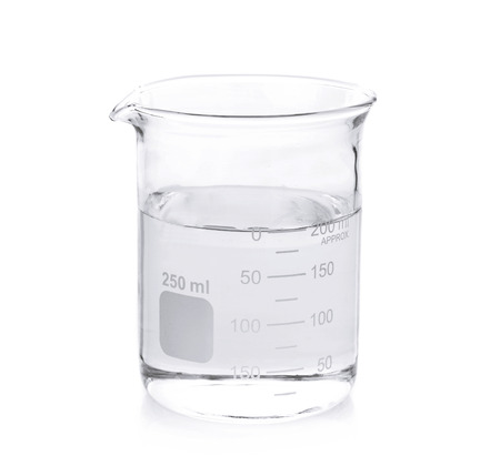 Beaker on white background