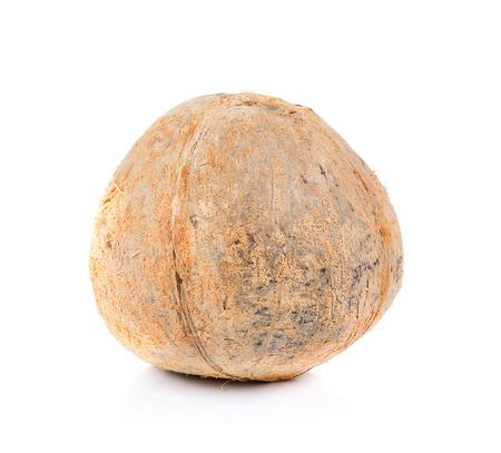 peel: peel coconut isolated on white