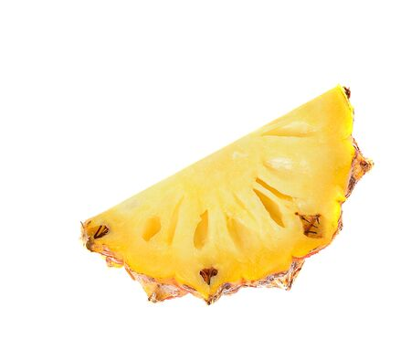 pineapple slice: pineapple slice isolated on white Stock Photo