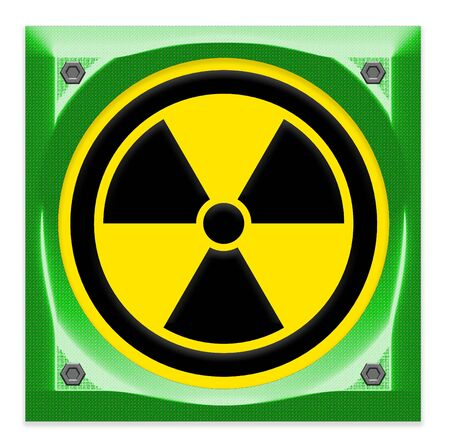 radiation sign: symbol of radiation sign