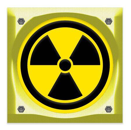 radiacion: símbolos de radiación