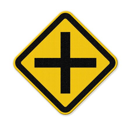 yield sign: traffic sign crossing isolate on white background