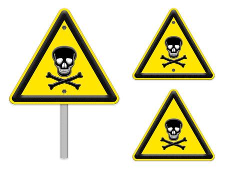 skull danger signs photo