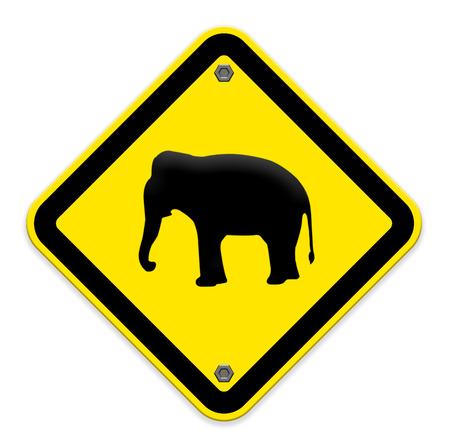 piktogramm: Elephant warning traffic sign
