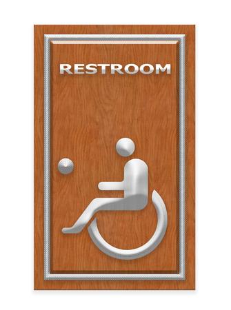 restroom sign: Handicap Restroom Sign Stock Photo