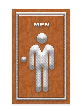 restroom sign: Men Restroom Sign Stock Photo