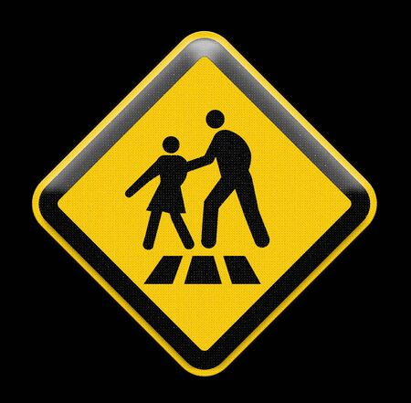 paso peatonal: De color amarillo brillante signo de paso de peatones