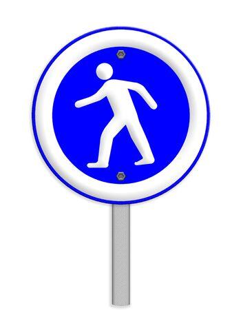 crosswalk: crosswalk sign with a man walking