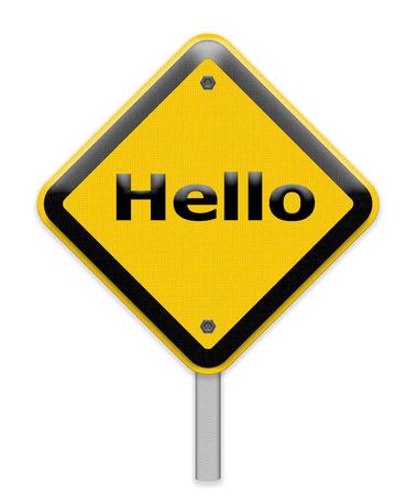 hello sign photo