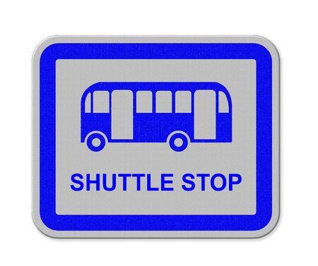 shuttle: a shuttle stop sign