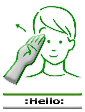 ok sign language: finger alphabet