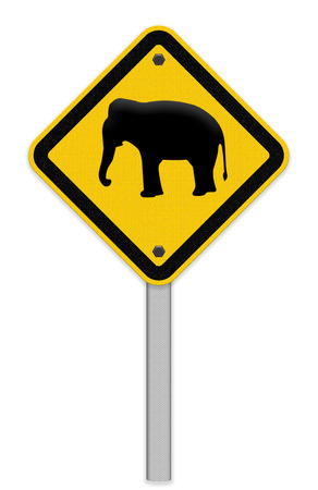 piktogramm: Beware of elephant traffic sign