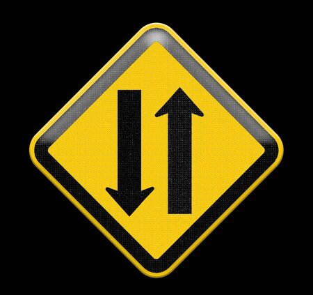 in a way: Two way traffic sign