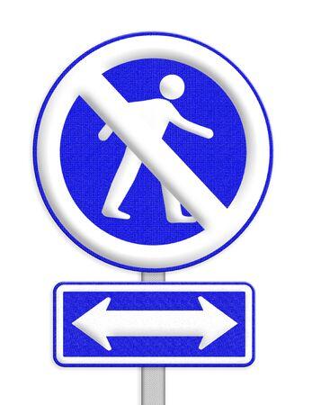 no entrance: ninguna Zona de entrada signo