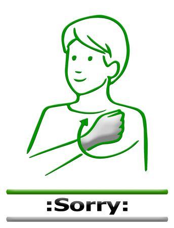 dedo me�ique: signo de dedo lenguaje alfabeto Foto de archivo