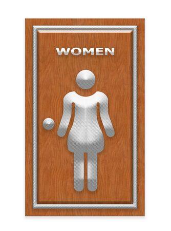 restroom sign: Women Restroom Sign Stock Photo