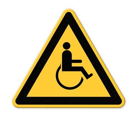 handicap sign: Handicap Parking Sign Stock Photo