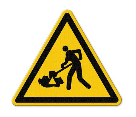 znak drogowy: under construction road sign
