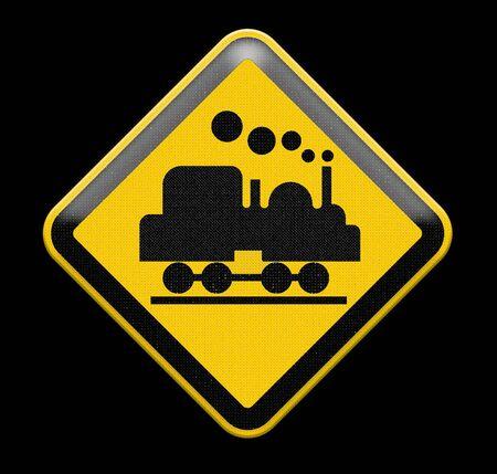 railtrack: Train Crossing Sign Stock Photo