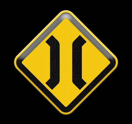 forewarning: The Narrow Bridge sign