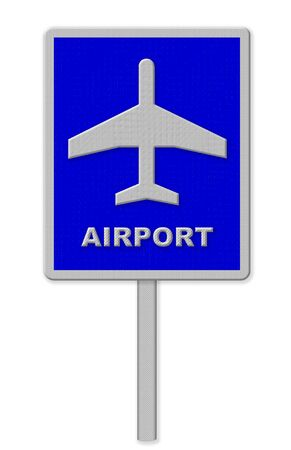 airport sign: Airport sign Stock Photo