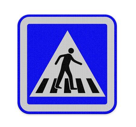 crosswalk sign with a man walking photo
