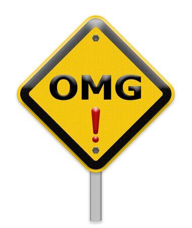 abbreviated: OMG sign