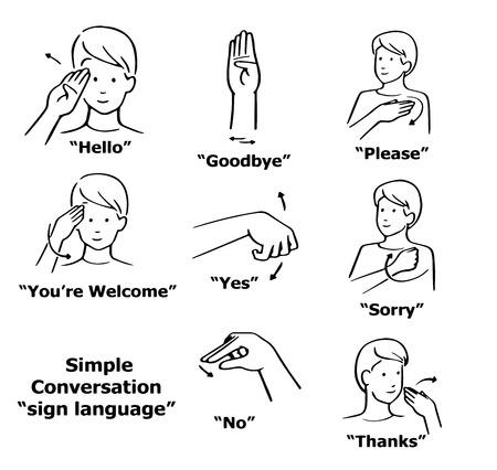 Exceptionnel Langue Des Signes Banque D'Images, Vecteurs Et Illustrations  JH21