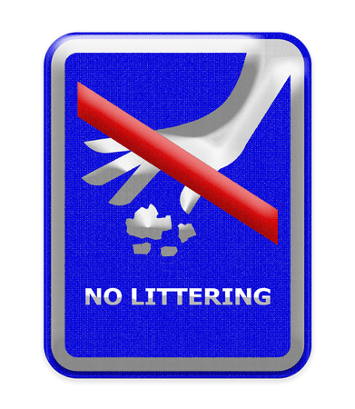 littering: No littering sign Stock Photo