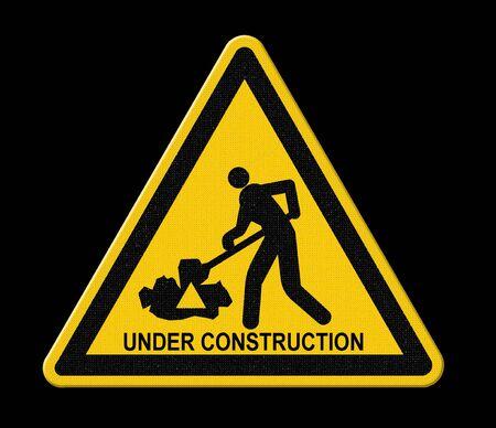 znak drogowy: pod znakiem budowy dróg