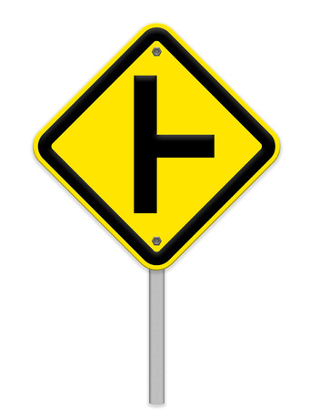 intersection: three intersection sign