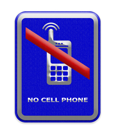 cell phones not allowed: no cell phone sign