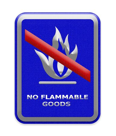 flammable: No flammable goods sign Stock Photo