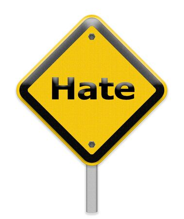 hate: hate sign