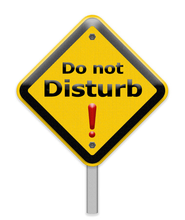 to disturb: do not disturb sign Stock Photo