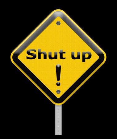 cursing: shut up sign