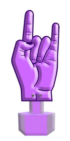 dedo meÑique: como el lenguaje de signos Foto de archivo