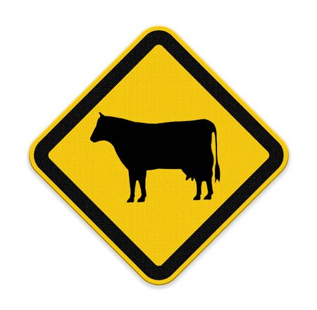 Cow warning sign photo