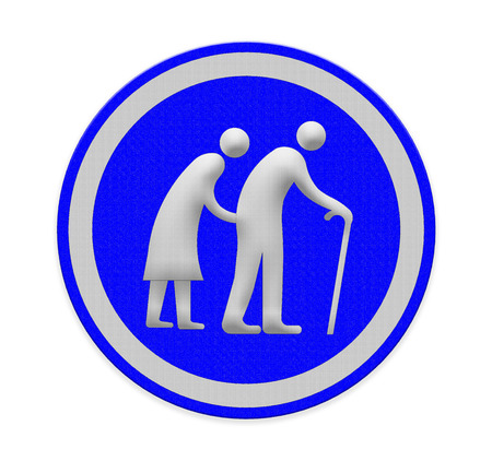 Elderly people walking sign photo