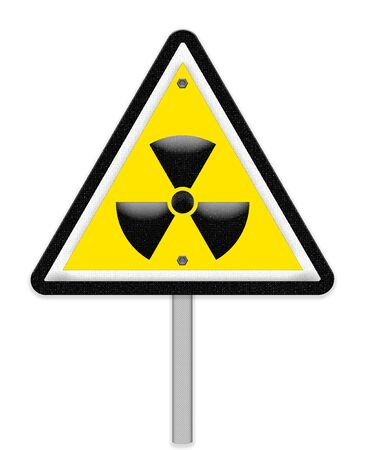exclaim: Yellow triangle sign with a radiation symbol
