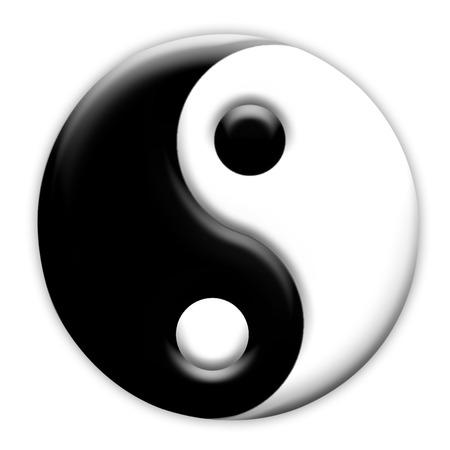 yang ying: Yin Yang symbol Stock Photo