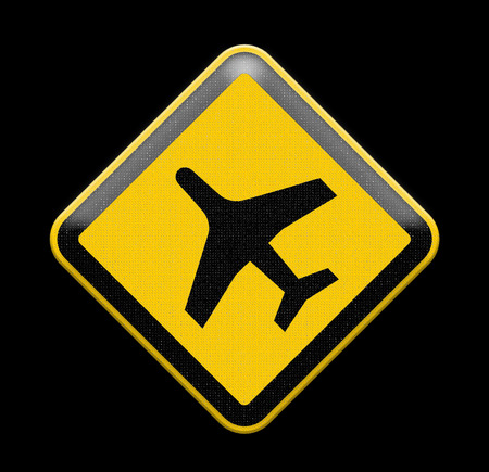 airport sign: airport sign with plane