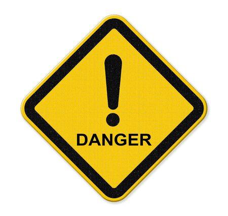 hazardous imperil: Danger warning sign