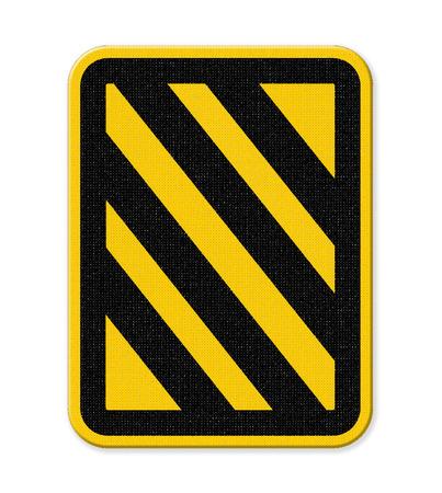 diagonal: Yellow and black diagonal stripe warning