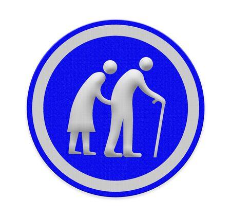 stroll: Elderly people walking sign